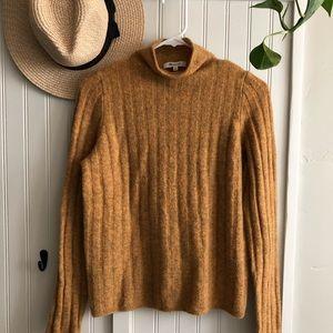 Madewell Mustard Wool Mockneck Sweater